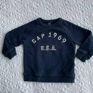 Baby Gap navy logo sweatshirt size 2 years